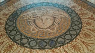 The mosaic tiles