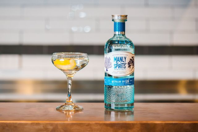 Manly Spirits Australian Dry Gin Classic Martini. Image Alana Dimou